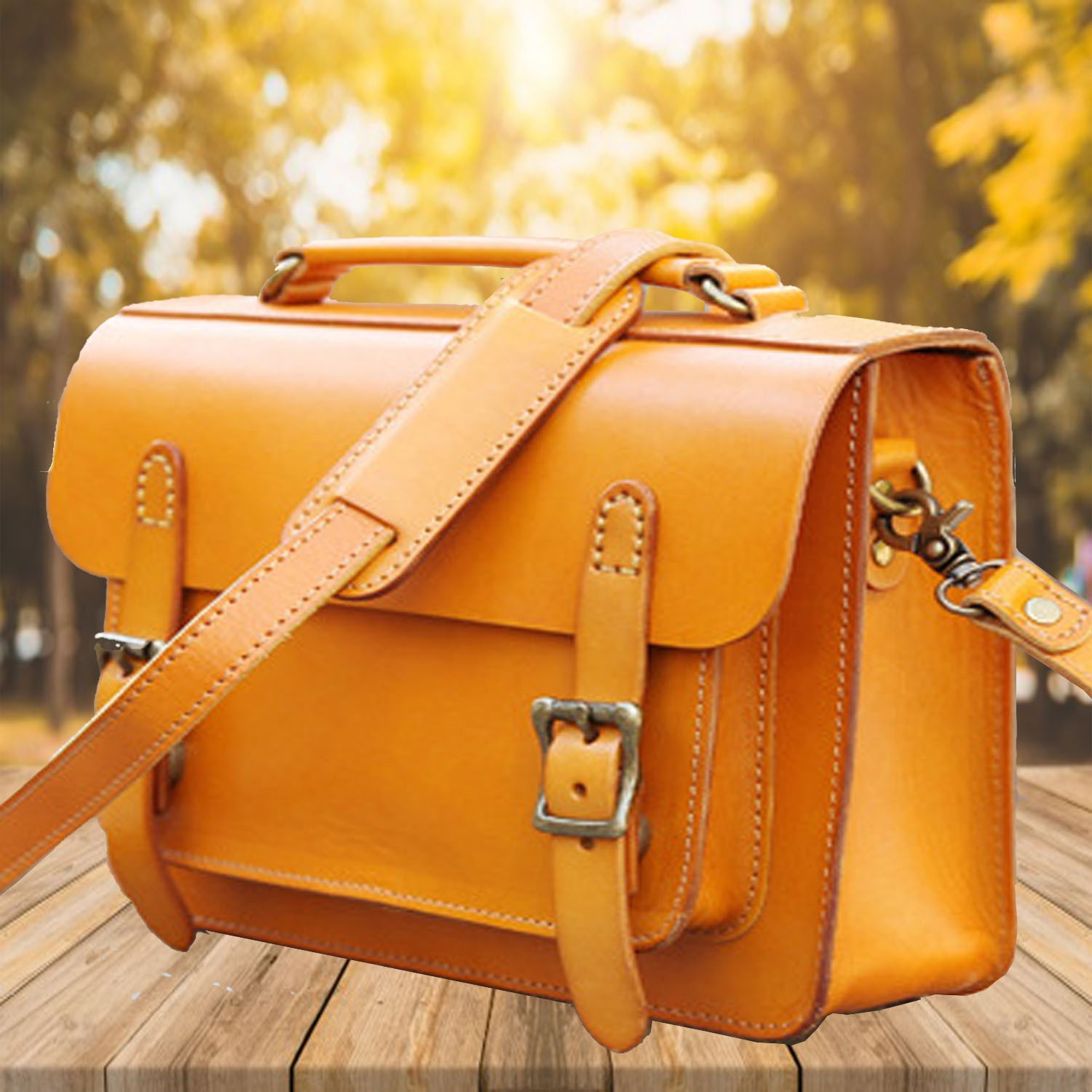 Women S Handmade Red Small Leather Satchel Bag